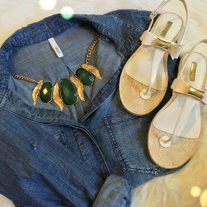 Louise et Cie Shoes - Louise et Cie White Bow Sandal