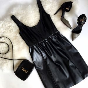 Bar III Dresses & Skirts - Black Leather Dress