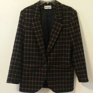 personal Jackets & Blazers - 1990s gridded trench coat