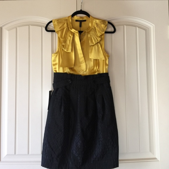 Yellow bcbg max azria dress