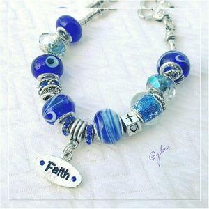 Salty Grace  Jewelry - Faith charm bracelet