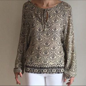 Tolani Printed Silk Blouse