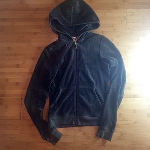 Juicy Couture Brown Velour Jacket Zip Up Hoodie S