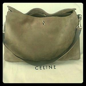 celine bag to buy - 39% off Celine Handbags - Celine Suede Silver Braided Chain ...