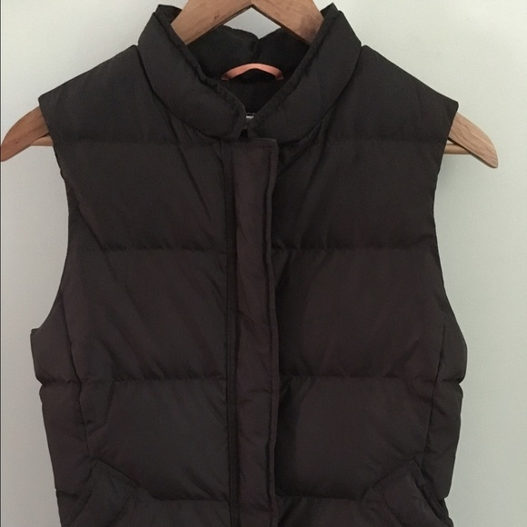 J. Crew Jackets & Blazers - J. Crew brown down filled puffer vest