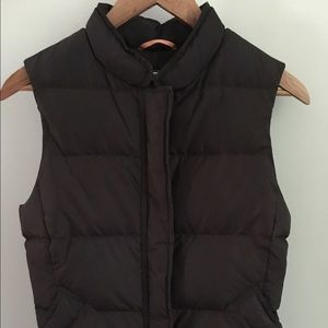 J. Crew brown down filled puffer vest
