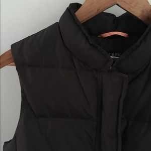 J. Crew Jackets & Coats - J. Crew brown down filled puffer vest