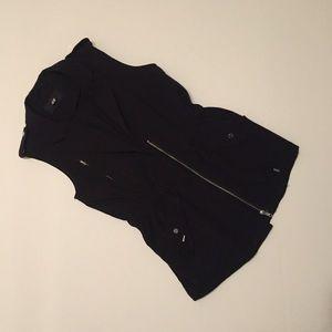 Black vest with metal detail