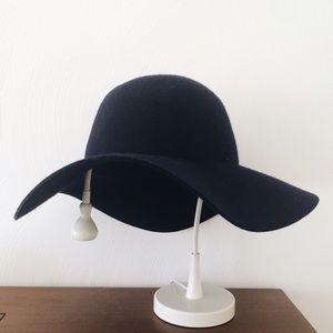 J. Crew Navy Wool Floppy Hat