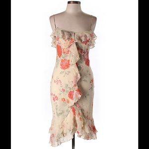 Flirty Express 100% Silk Dress 