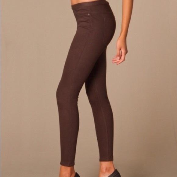 7baa4191fbf384 HUE Pants | Brown Denim Leggings | Poshmark
