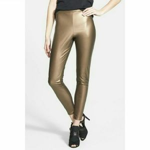 Leith Pants - Metallic faux leather leggings - NWT