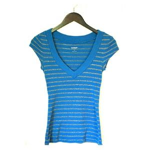 SALE!!   Blue Express V-neck Tee