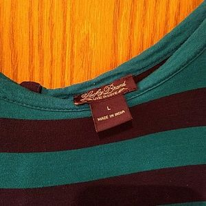 Lucky Brand Tops - FINAL PRICE: Lucky Brand Navy & Teal Stripe Top