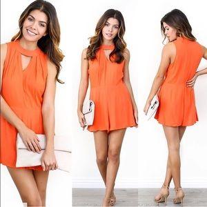 Vici Collection Pants - Orange Romper