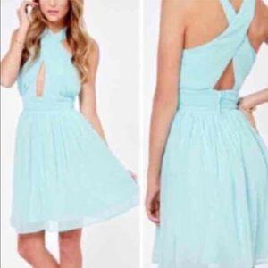 Lulu's Dresses & Skirts - Blue Wrap Dress 💙