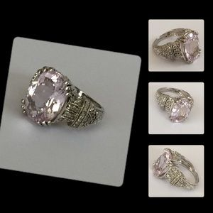 Jewelry - 14k Diamond & Kunzite Huge Cocktail Ring