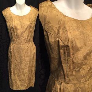 Vintage 50s rose gold dress XL 14/16