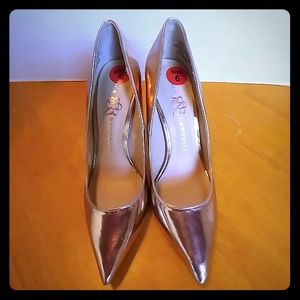 Rock & Republic Stilettos, sz 6, Pink Champaign