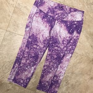 Purple Galaxy Workout Capris