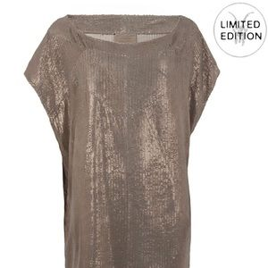 All Saints Dresses & Skirts - All Saints Limited Edition Metallic Leather Dress
