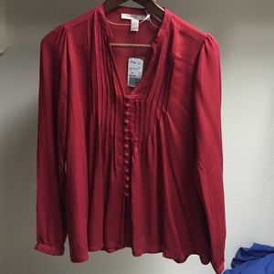 Forever 21 red blouse XS NWT