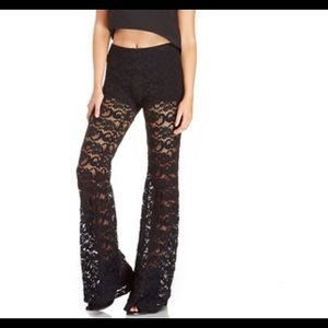 DARLING Pants - 🆕 LACE FLOWER BELL PANT