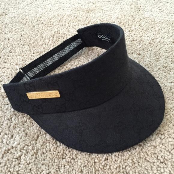 fa40773633c Accessories - Black Gucci Visor