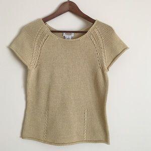 Talbots Sweaters - Talbots PS short sleeve knit sweater yellow