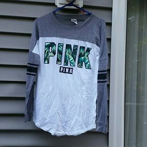 PINK FERN COLLECTION HTF Cut Out LS T Sz XS EUC
