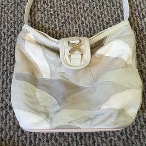 Neutral Patchwork Shoulder Bag