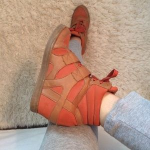 N.Y.L.A. Shoes - Orange Wedge Sneakers 🍊👟
