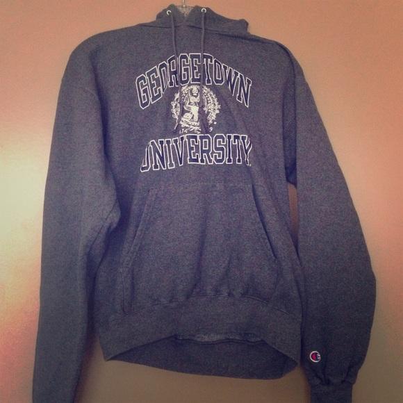 Poshmark Tops Sweatshirt Tops Sweatshirt Poshmark Georgetown Georgetown Champion Champion pqgB1wnx8H