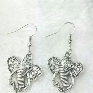 New adorable Tibetan silver elephant earrings