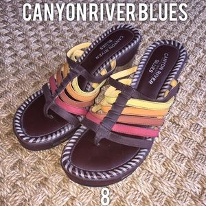 Canyon River Blues Shoes - Canyon River Blues Brown Multicolored Sandals 8