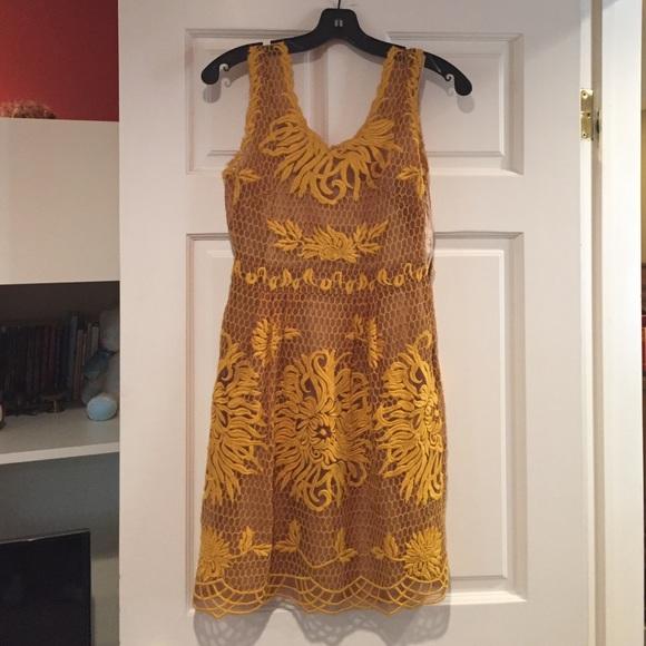 b7987a67c04c Anthropologie Dresses & Skirts - Yoana Baraschi honeycomb lace Venus flower  dress