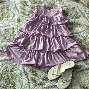 J. Crew lilac ruffle dress