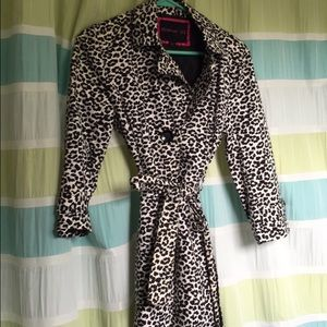 Forever 21 animal print trench coat
