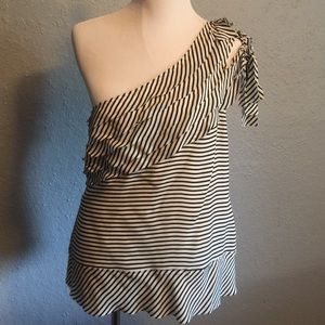 Awesome BCBG one shoulder top