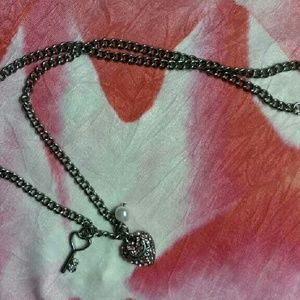Juicy Couture Jewelry - Juicy Couture Silver Necklace with pink heart