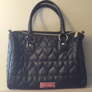 Betsey Johnson Heart Quilted Purse
