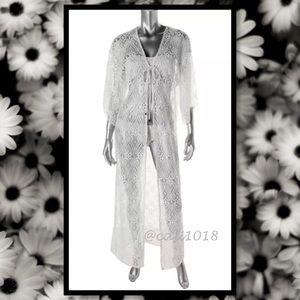 Elan Other - 🆕Bright White Kimono Sleeve Maxi Coverup Duster