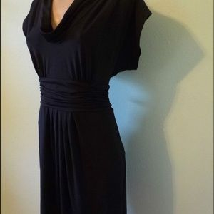BCBG Max Azria Black Cowl neck Dress