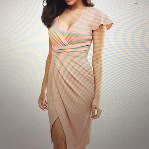 ASOS front wrap midi dress