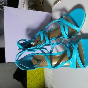 Shoes - Blue sandals high hill