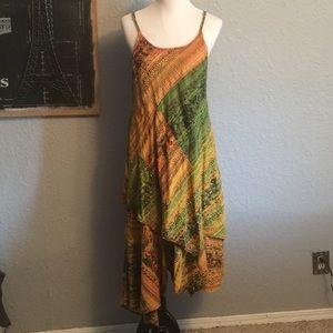 Dresses & Skirts - Printed asymmetrical printed maxi dress