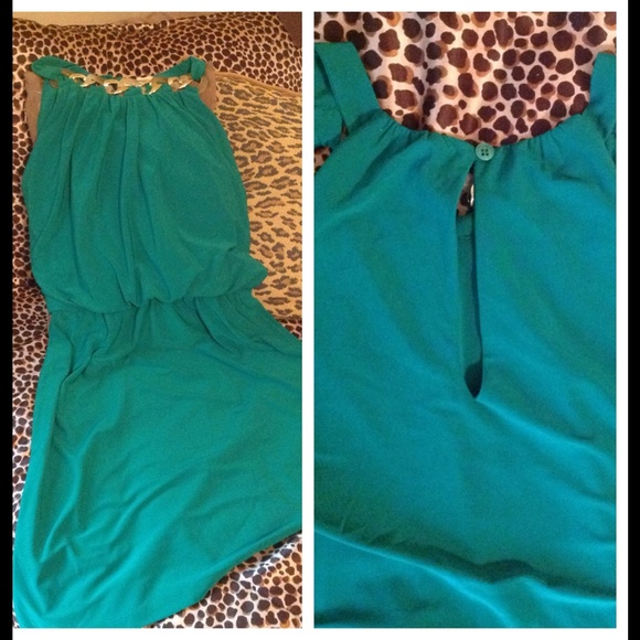 76% off Dress Barn Dresses & Skirts - KELLY GREEN w/ GOLD ...