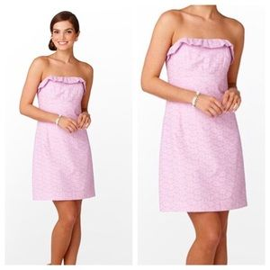 Lilly Pulitzer Lilac Purple Strapless Lace Dress 4