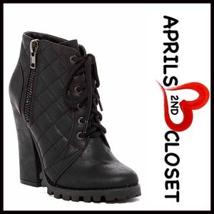 ❗1-HOUR SALE❗BOOTS Vegan Leather Lace Up Booties