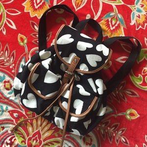 Handbags - ❣ Girlie Heart Print Backpack